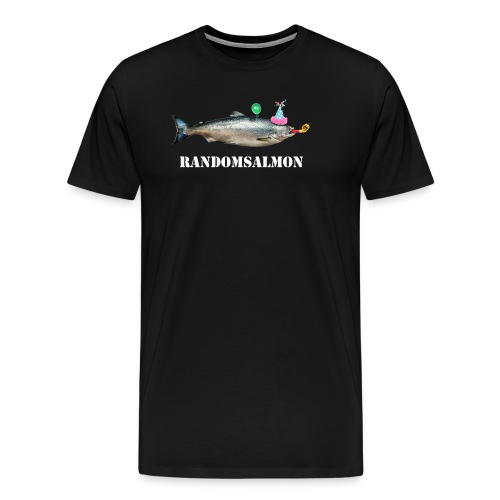 SALMON WHISTLE MASTER WHITE LETTERS TRANSPARANT - Premium T-skjorte for menn