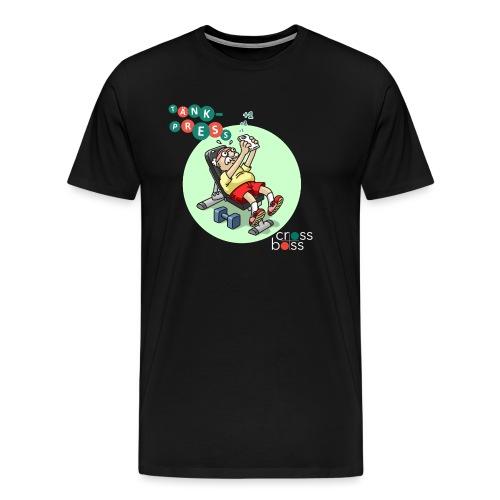 Tänkpress (mörk bakrund) - Premium-T-shirt herr