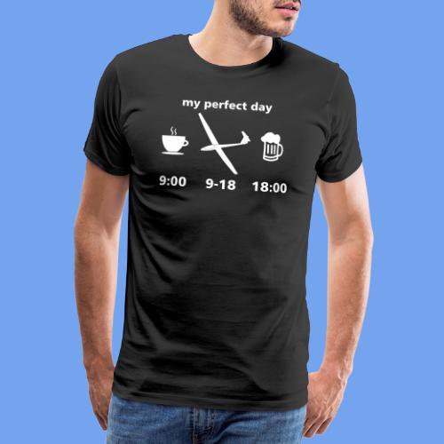Tag Segelflieger perfekt Bier Segelflugzeug - Männer Premium T-Shirt