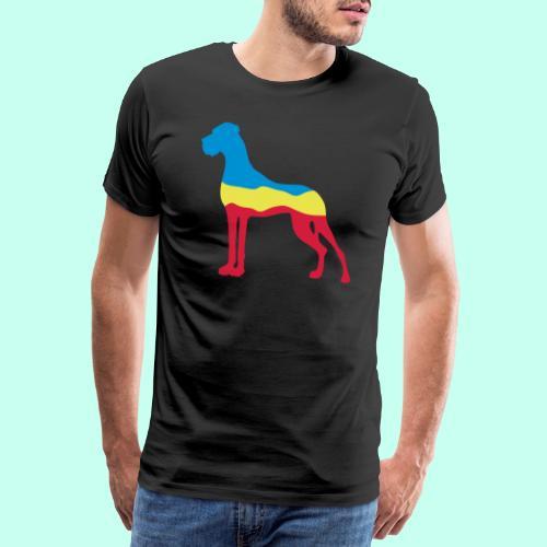 Flaggen Dogge - Männer Premium T-Shirt