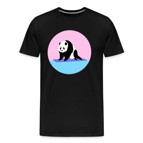 Yoga panda downward dog namaste - Men's Premium T-Shirt