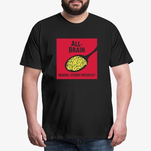 Cuchara y cerebro Español - Camiseta premium hombre