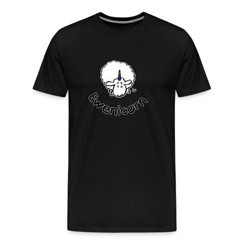 Ewenicorn (schwarze Ausgabe schwarzer Text) - Männer Premium T-Shirt