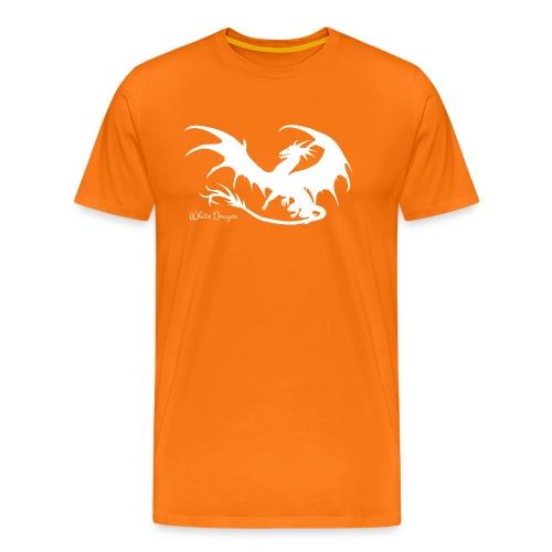 Weisser Drache - Männer Premium T-Shirt