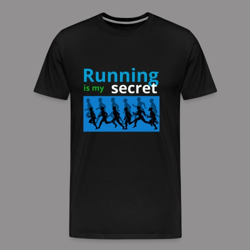 running secret - Mannen Premium T-shirt