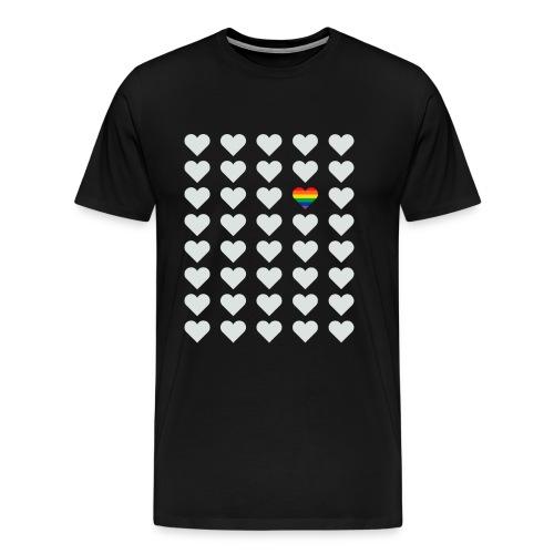 Pride LGBT Herz Glücklich - Männer Premium T-Shirt