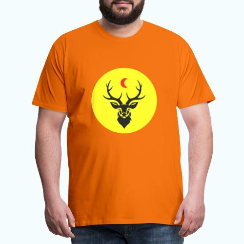 Hipster deer - Men's Premium T-Shirt