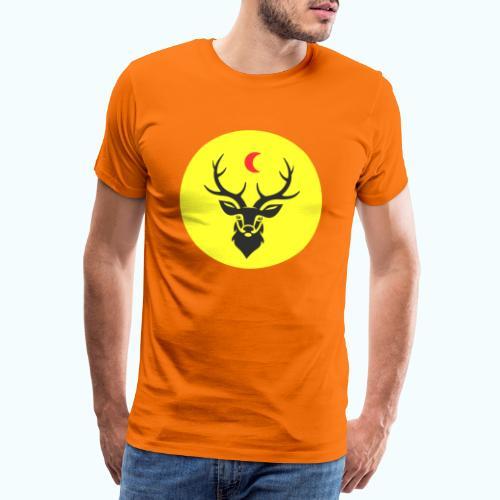 Hipster deer - Men's Premium T-Shirt