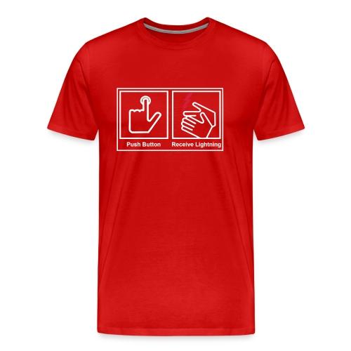 push button receive light - Men's Premium T-Shirt