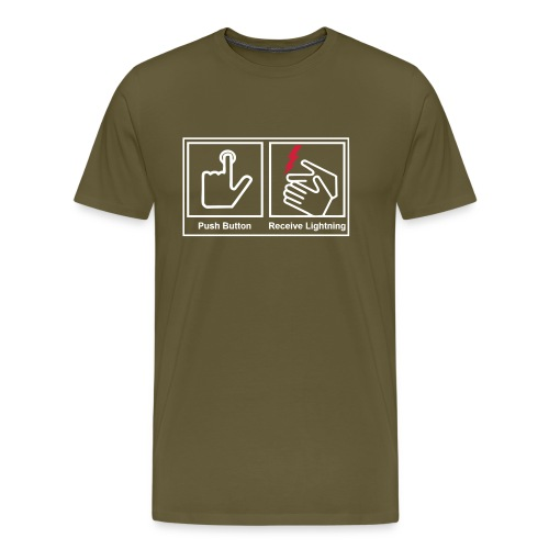 push button receive light - Men's Premium T-Shirt