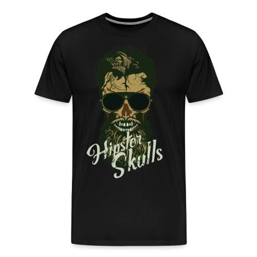 tete de mort hipster crane skull lunette de soleil - T-shirt Premium Homme