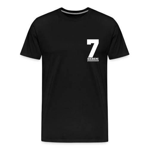 77 w png - Männer Premium T-Shirt