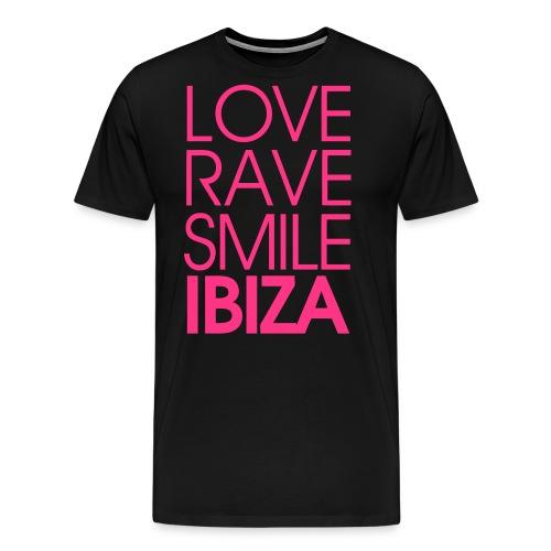LOVE RAVE SMILE LOGO - Männer Premium T-Shirt