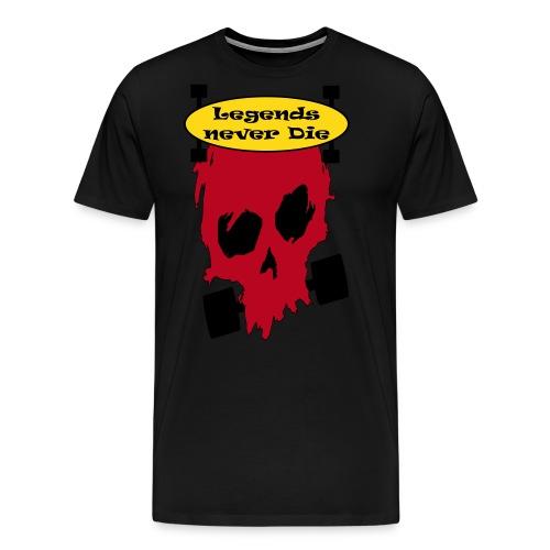 Longboard Legends never Die - Männer Premium T-Shirt