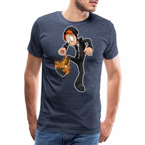 Flaming shoe - Herre premium T-shirt