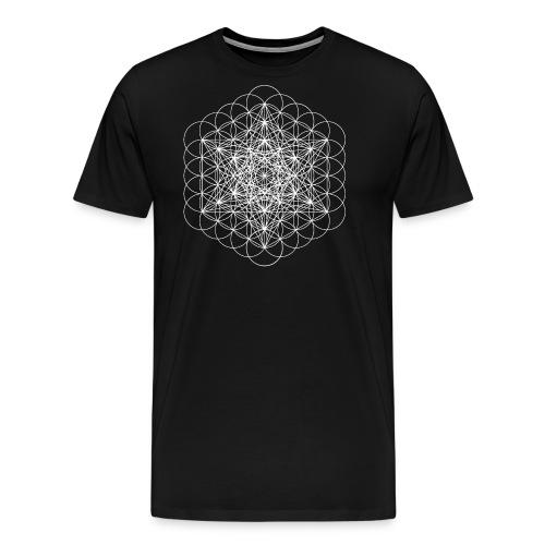 metatrons cube white - Men's Premium T-Shirt