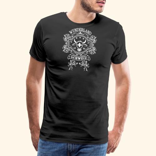 T-SHIRTS, WUNDERLAND SCHWEIZ, SCHWEIZER SOUVENIRS - Männer Premium T-Shirt