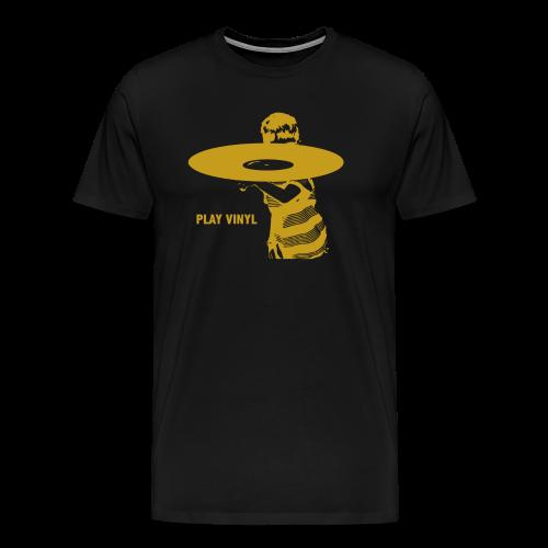 Play Vinyl (goud) - Mannen Premium T-shirt