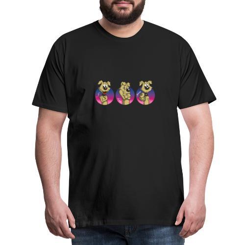 "Comic Hund in Gebärdensprache ""I love you"" - Männer Premium T-Shirt"