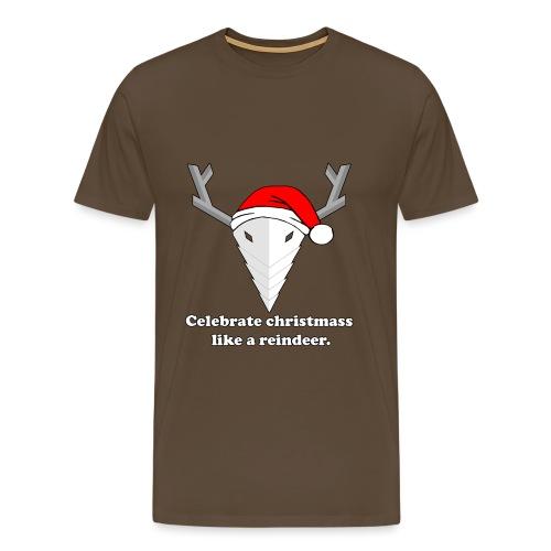 christmass reindeer - Mannen Premium T-shirt
