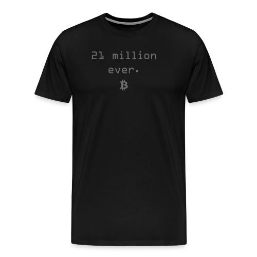 21 million ever. Bitcoin Blockchain - Männer Premium T-Shirt