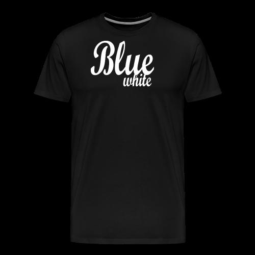 Blue White - Men's Premium T-Shirt