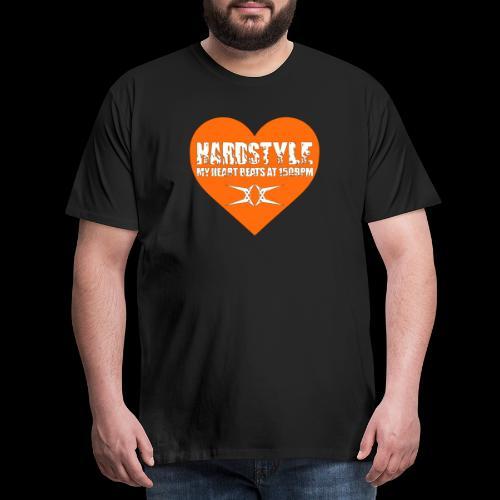 Hardstyle = My Style - My Heart Beats At 150BPM - Mannen Premium T-shirt