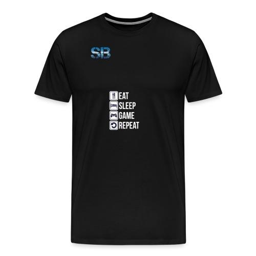 Eat Sleep Game Repeat - Herre premium T-shirt
