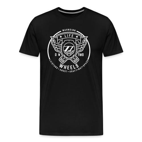 LifeOn2Wheels - Wahnsinn II - Männer Premium T-Shirt