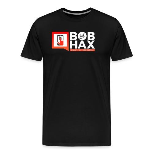 LOGO BobHax white - Maglietta Premium da uomo