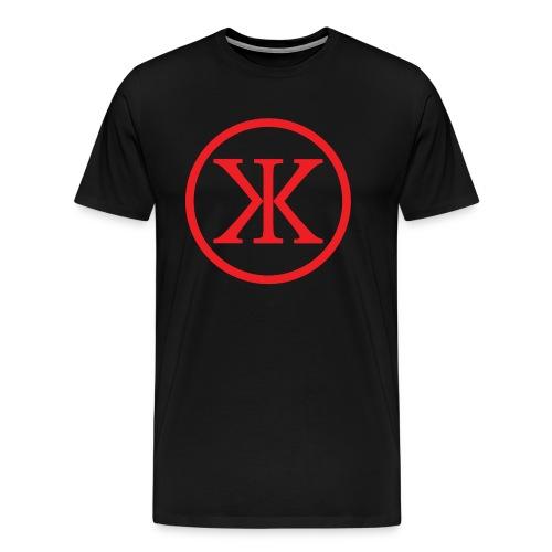 KK KingKnut V-Shirt Logo in Black/Red - Männer Premium T-Shirt