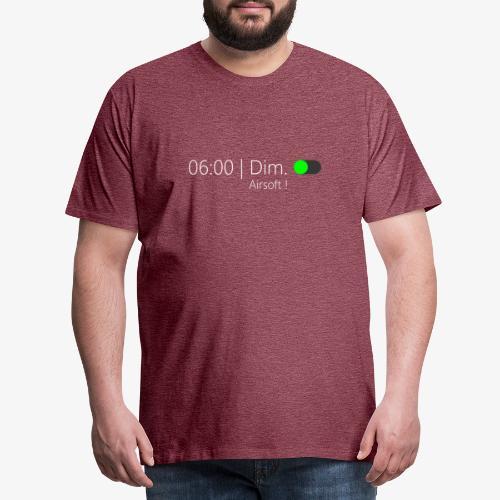 Réveil du dimanche ! (Texte Blanc) - T-shirt Premium Homme