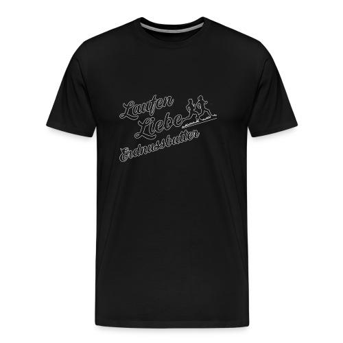 Laufen Liebe Erdnussbutter - Schlicht! - Männer Premium T-Shirt