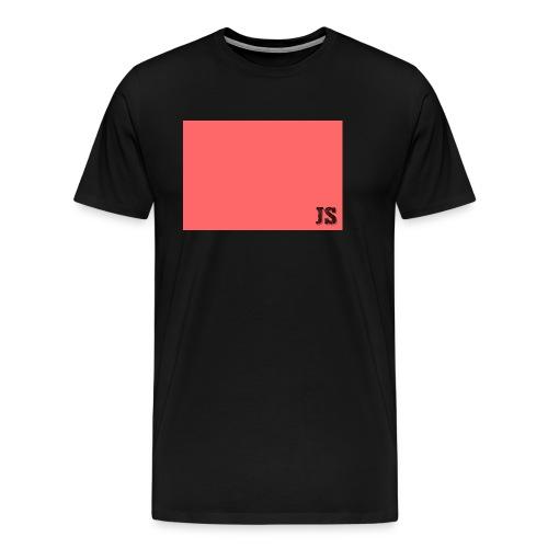 JustSquares Roze - Mannen Premium T-shirt