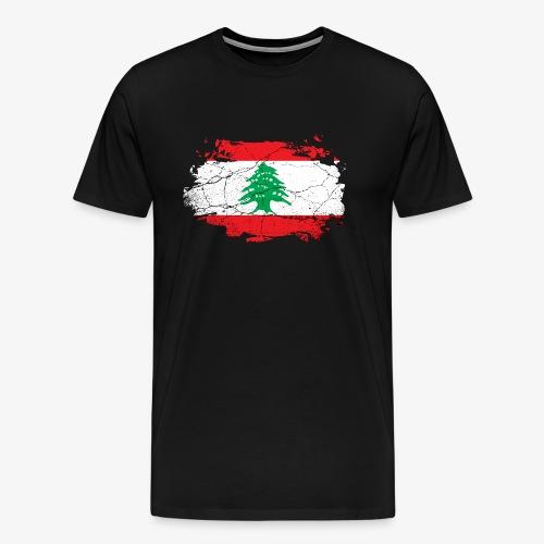 Libanon Libanesische Flagge - Männer Premium T-Shirt