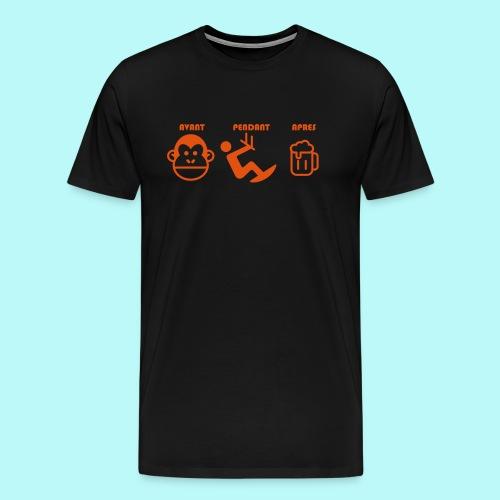 AVANT PENDANT APRES kitewindcorsica - T-shirt Premium Homme