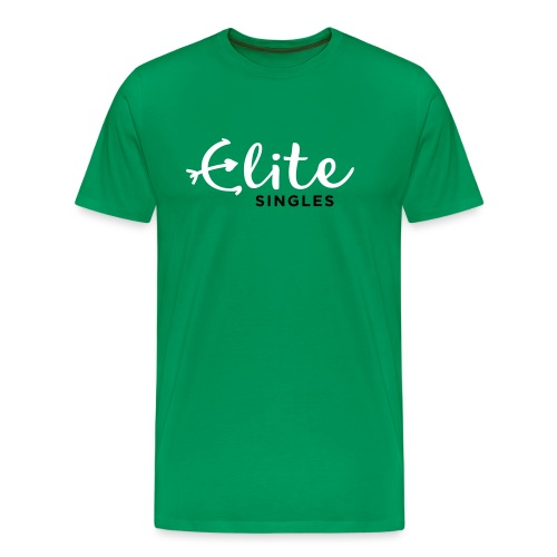 EliteSingles Logo EN Light - Männer Premium T-Shirt