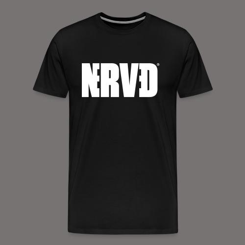 Official Nerved@ White Logotype - Men's Premium T-Shirt