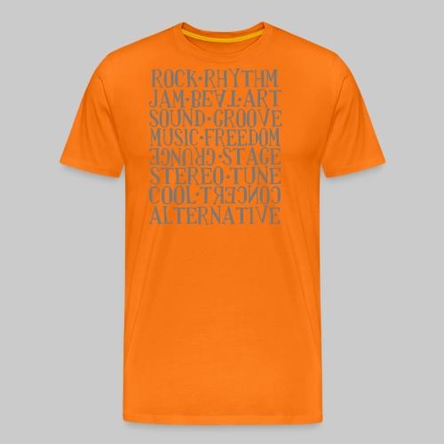 Wortmix Musik - Männer Premium T-Shirt