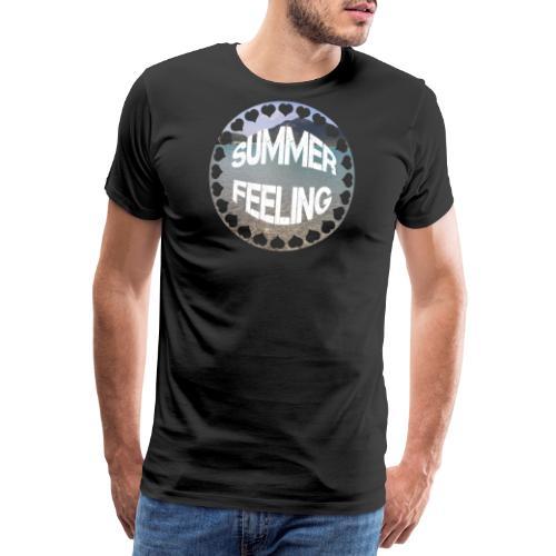 LIMITED SUMMER FEELING Schriftzug - Männer Premium T-Shirt