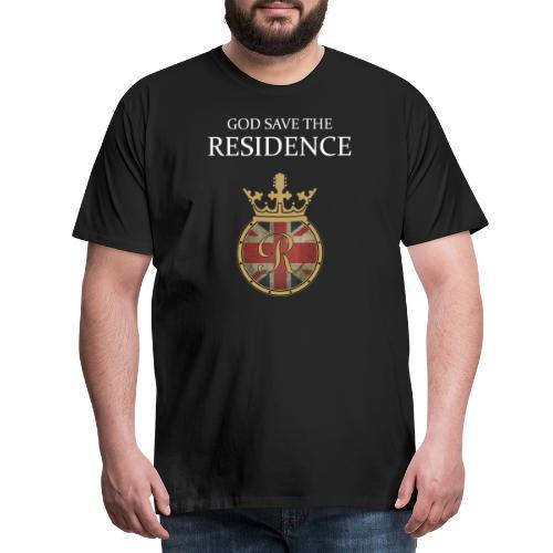 GOD SAVE THE RESIDENCE LOGO WHITE - Männer Premium T-Shirt