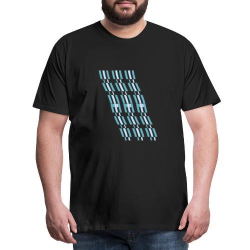 linee astratte azzurre - Maglietta Premium da uomo