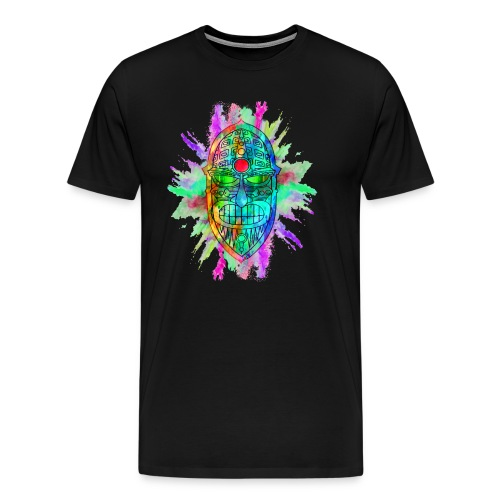 Watercolour Tiki Mask - Men's Premium T-Shirt