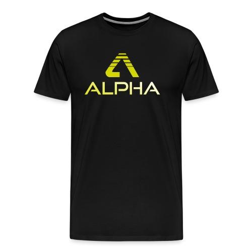alpha trans png - Männer Premium T-Shirt