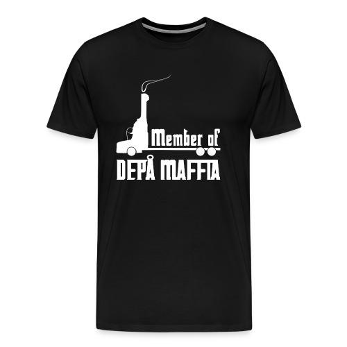 Depå Maffia vitt tryck - Premium-T-shirt herr