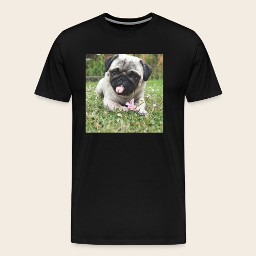 Mops Wiese - Männer Premium T-Shirt