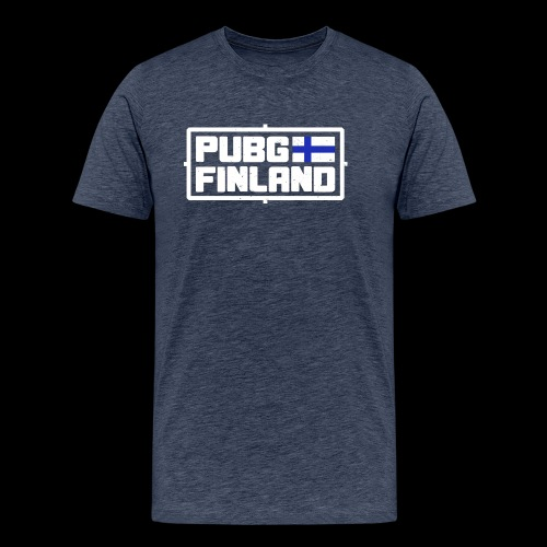 PUBG Finland white - Miesten premium t-paita