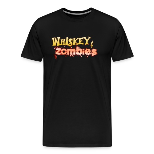 Whiskey Zombies Logo - Premium-T-shirt herr