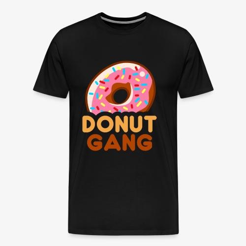Donut Gang - Logo (med tekst) - Herre premium T-shirt