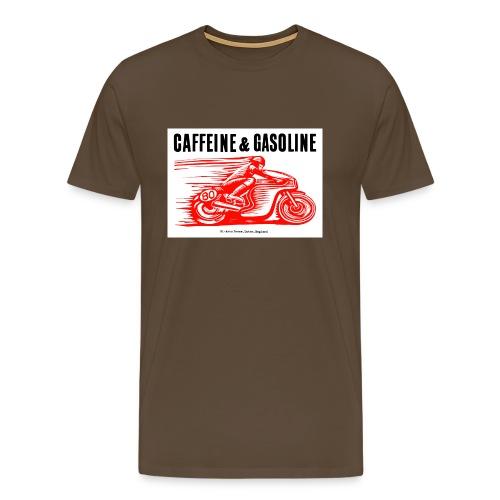 Caffeine & Gasoline black text - Men's Premium T-Shirt